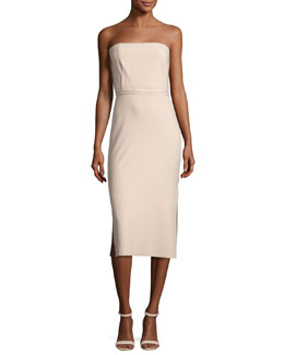 Sierra Strapless Sheath Dress, Nude