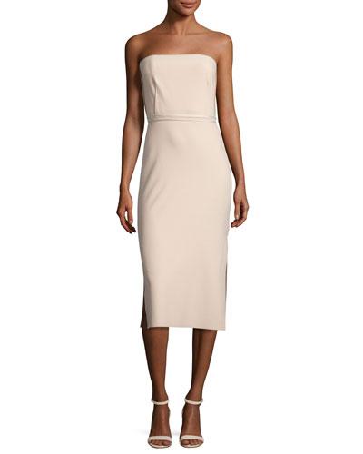 Sierra Strapless Sheath Dress, Nude