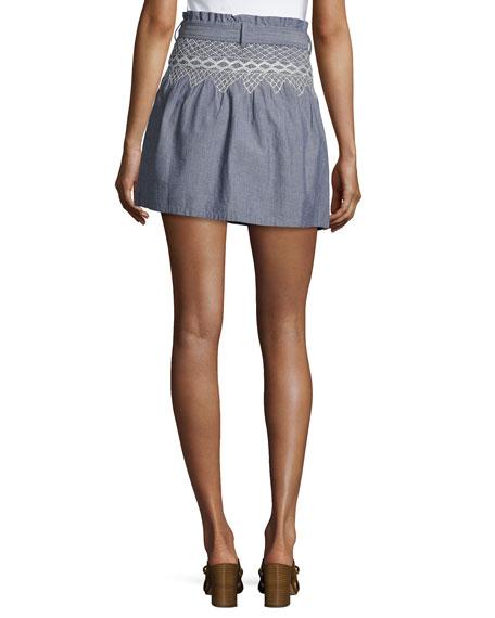 The Short Rancher Chambray Skirt, Indigo