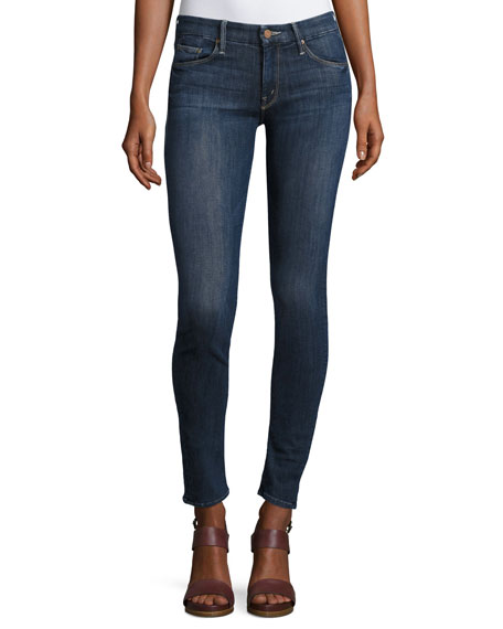 Looker Mid-Rise Skinny Jeans, Blue
