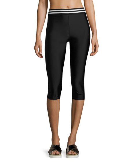 Onzie Elastic Band Capri Performance Leggings, Black