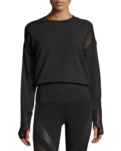 Formation Long-Sleeve Top, Black