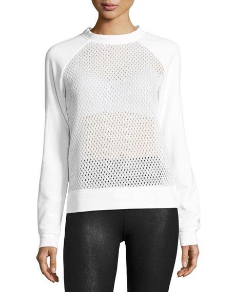 Alo Yoga Elemental Mesh Sweatshirt, White