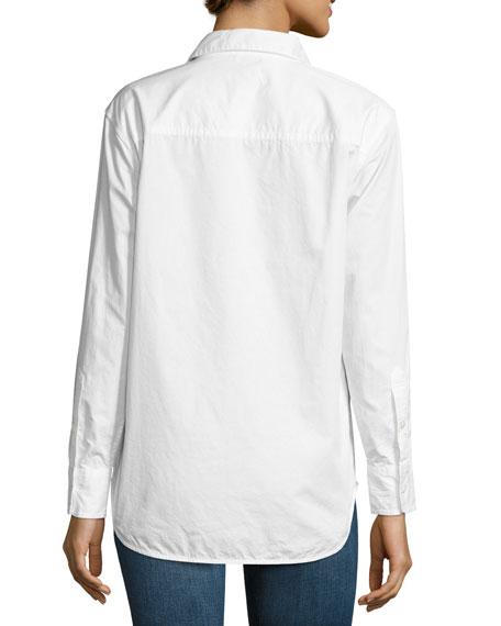 Kenton Insect Cotton Shirt, White
