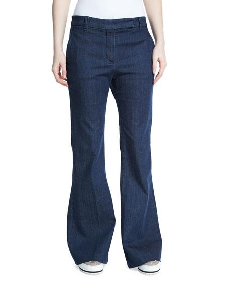 Mid-Rise Flare-Leg Jeans, Indigo