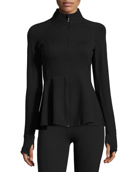 x kate spade Bow Back Flounce Athletic Jacket