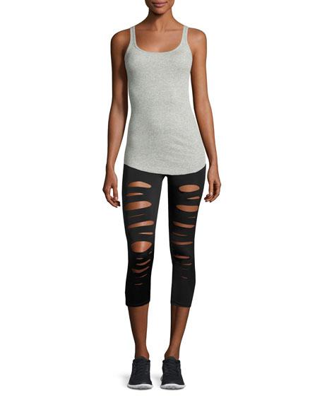 3559e4b373e268 Onzie Shred Capri Performance Leggings, Black