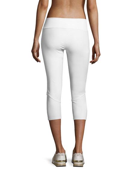 Splice Capri Sport Capri Leggings, White