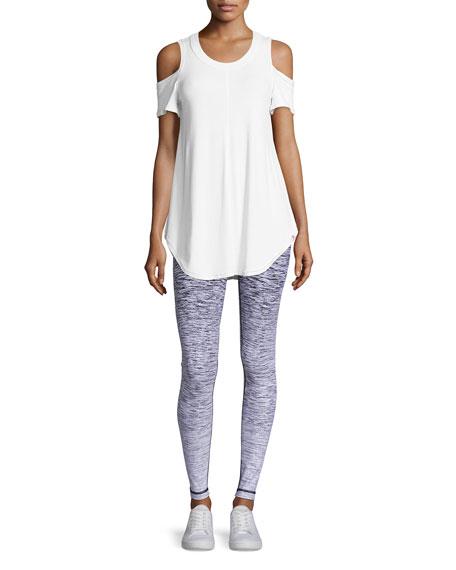 Reversible Ombre Athletic Leggings, White
