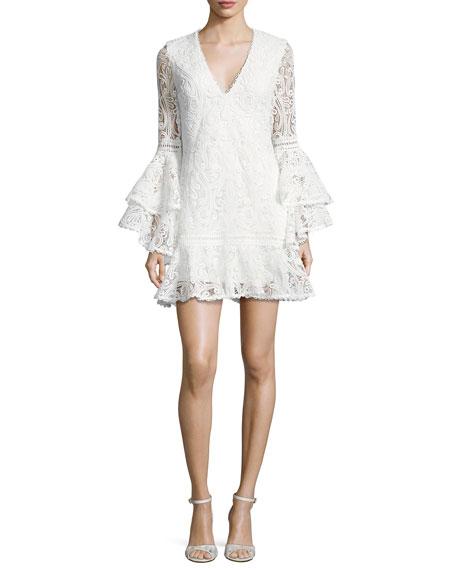 Alexis Veronique Lace Shift Dress, White