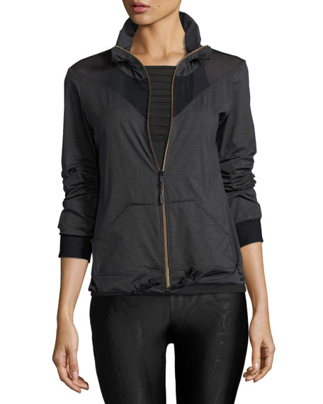 Pace Zip-Front Track Jacket, Gray