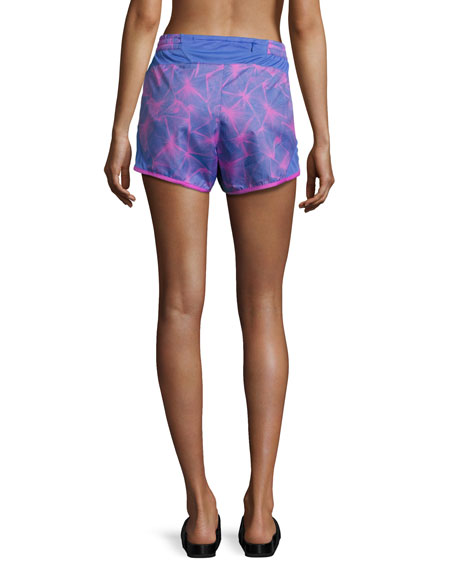 Altertude Hybrid Running Shorts, Blue Pattern
