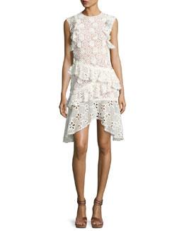 Arleigh Sleeveless Lace Tiered Dress