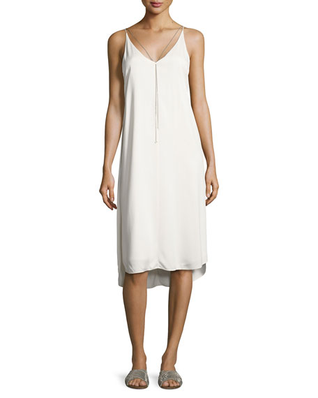 alexanderwang.t Sleeveless Stretch Crepe Midi Dress