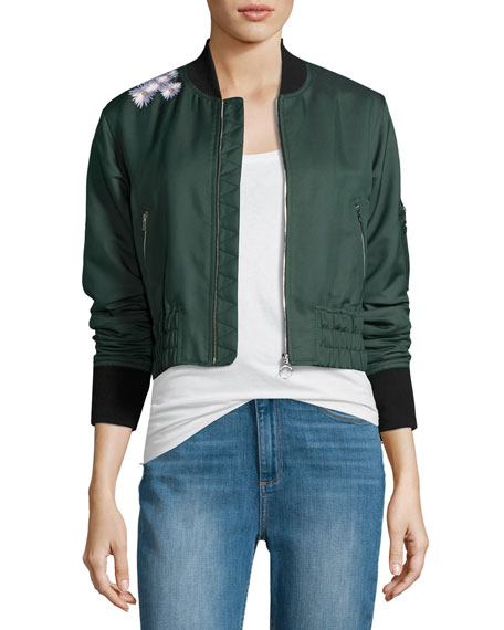 Elizabeth and James Ancel Long-Sleeve Quilted Moto Jacket,