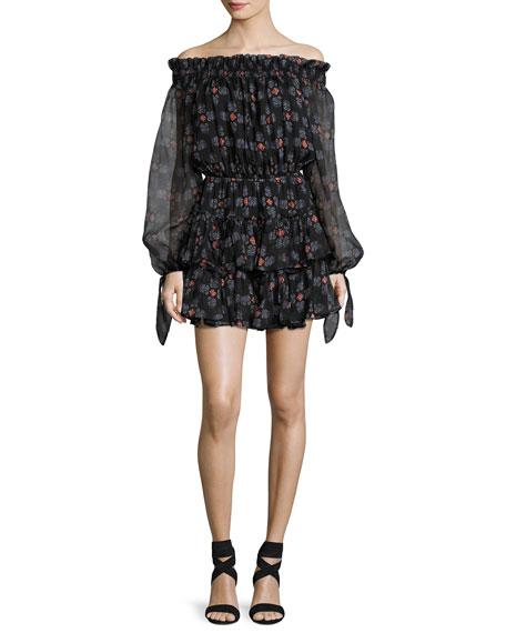 Lou Off-the-Shoulder Dress, Black