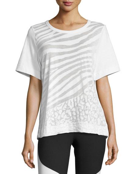 Shoptagr climalite animal print workout t shirt white for Design your own workout shirt