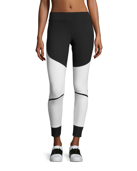 Train Compression Tights, Black/White