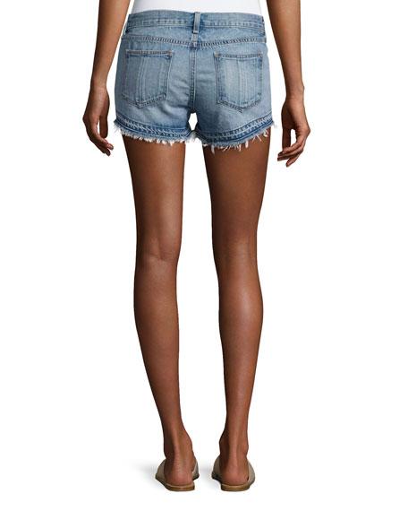 Cutoff Denim Shorts, Indigo
