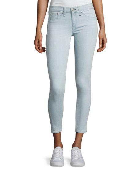 rag & bone/JEAN Mid-Rise Skinny Capri Jeans, Indigo