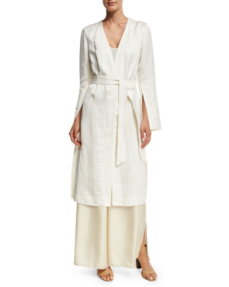 Elizabeth and James Archer Belted Topper Jacket, Ivory