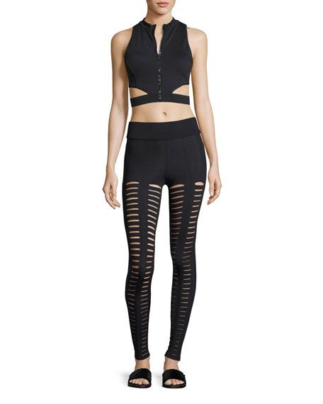 Artemis Lattice Leggings, Black