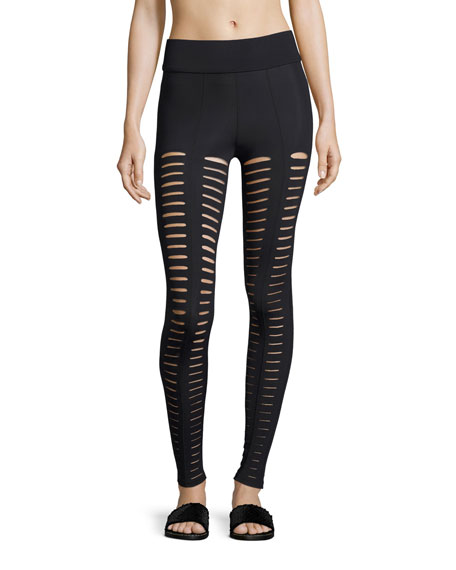 Artemis Lattice Leggings, Black