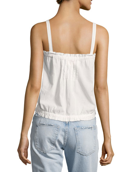 The Eyelet Lace Tank Top, White