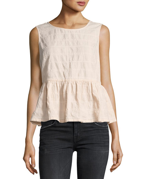 Current/Elliott The Peplum Tank With Inside Binding, Rosedust
