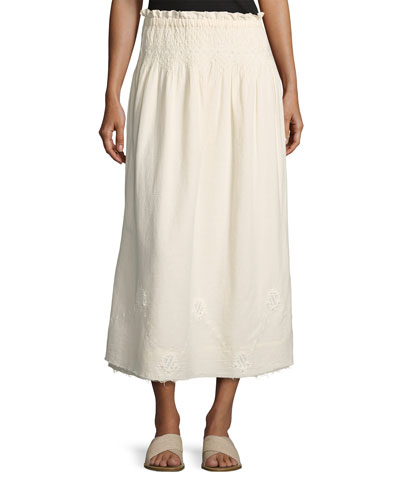 The Rancher Convertible Maxi Skirt, Beige