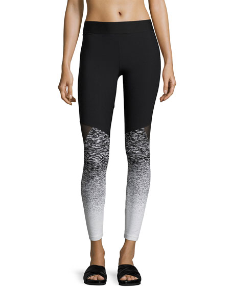 Tracking Ombre Performance Leggings, Black Pattern
