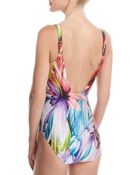 Spring Embrace Floral-Print One-Piece Swimsuit