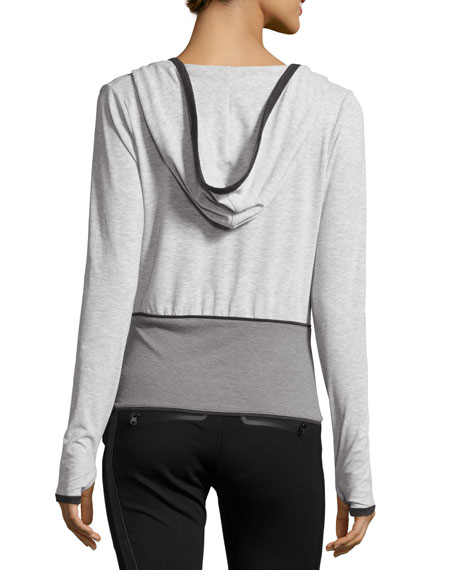 Ballet Wrap Performance Hoodie, Gray