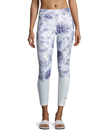 dc3e049895 adidas by Stella McCartney Sprint Web Performance Running Tights/Leggings,  White/Blue