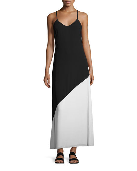 Alice + Olivia Maggie Paneled Slip Maxi Dress,