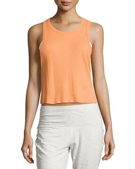 Air Ribbed Workout Tank Top, Orange