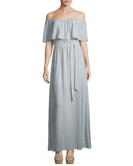 Grazi Off-the-Shoulder Maxi Dress, Multi