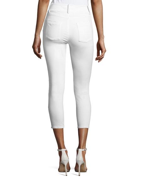 Quinn Cropped Skinny Jeans, White