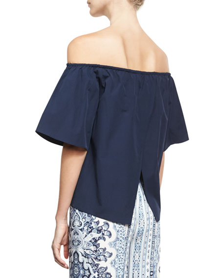 Crosby Off-the-Shoulder Top, Indigo