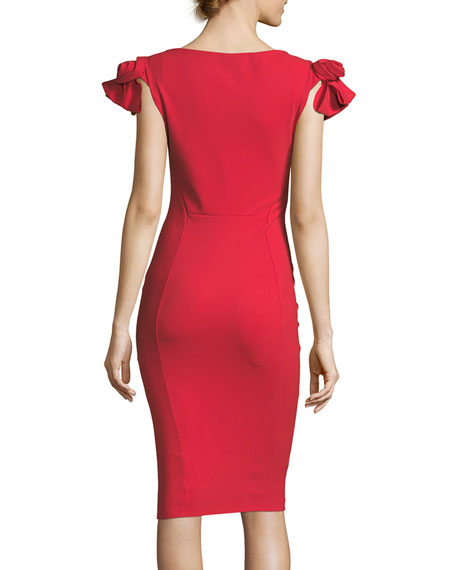 Belvis Rosette Bodycon Cocktail Dress