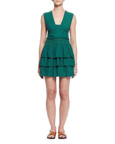 Kali Sleeveless Ruffled Mini Dress
