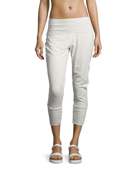 Dusk Jersey Capri Jogger Pants, White Pattern