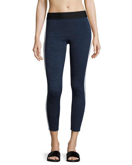Heroine Sport Exerciser Heathered Performance Leggings, Blue/Gray
