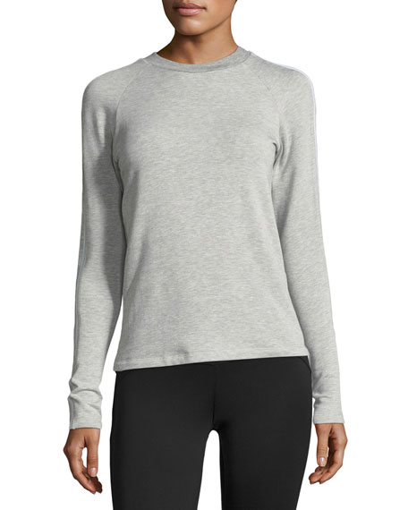 Racing Long-Sleeve Fitted Sweatshirt