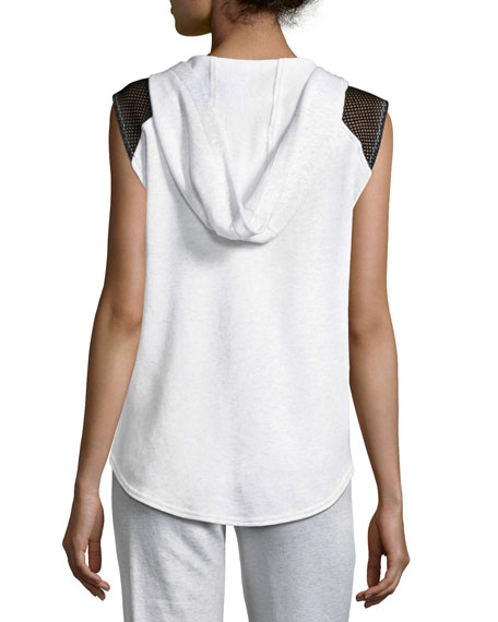 Ash Fishnet French Terry Hooded Vest