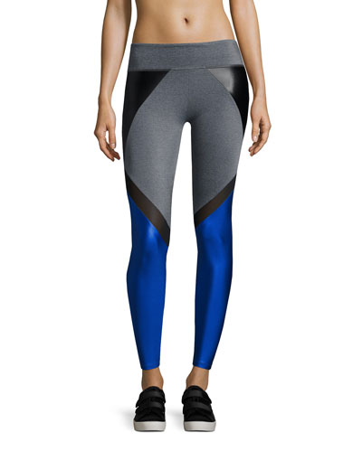 Manning Combo Block Leggings, Blue/Black