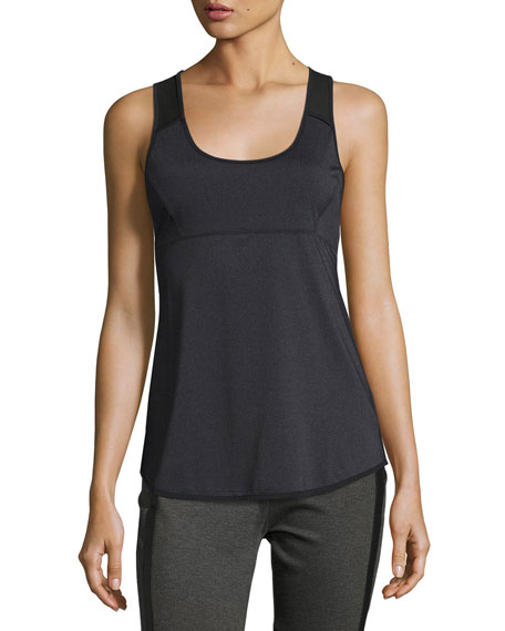 Mesh Back Tank Top, Gray