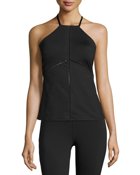 Barre Racerback Performance Tank Top, Black