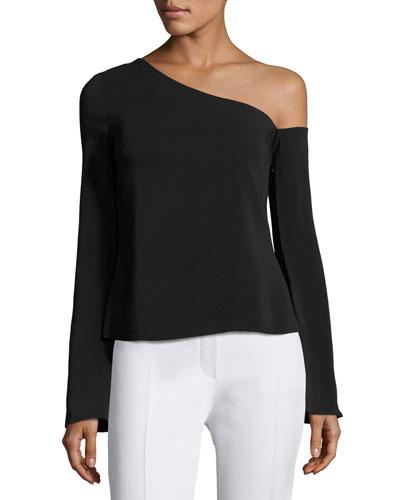 Mia One-Shoulder Top, Black