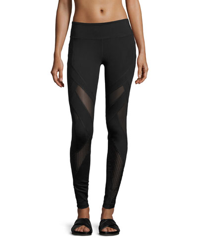 Allegiance Athletic Leggings W/Mesh Insets, Black